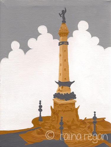 Indiana Soldiers' and Sailors' Monument: Inspired by Grey