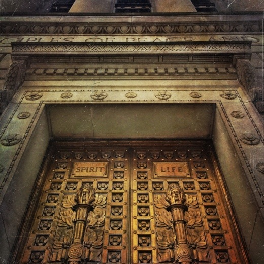 Beautiful doors on the Indiana World War Memorial. Photo created with the mextures app.