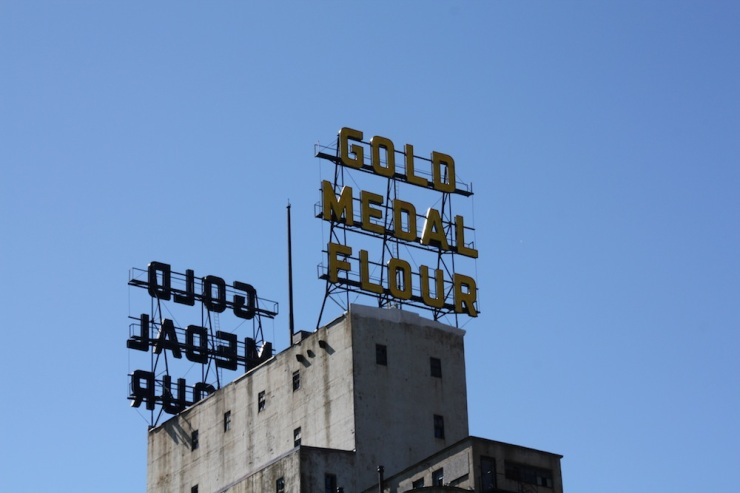 One last photo from the tour... the Gold Metal Flour sign in downtown Minneapolis!