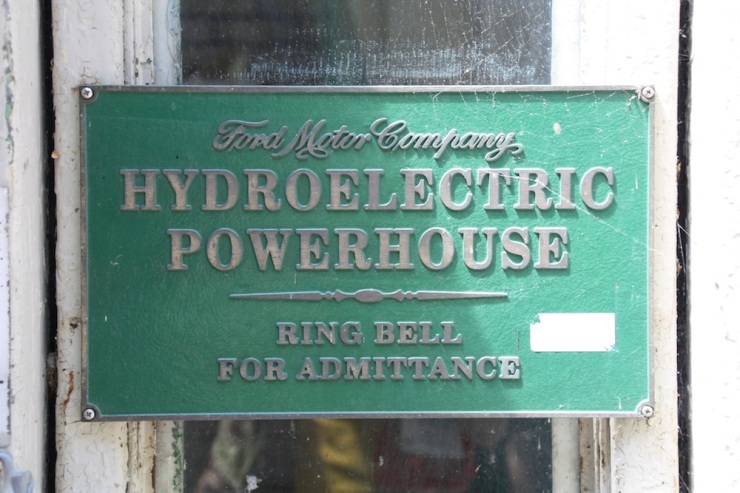 Historic Sign on the Hydroelectric Power House