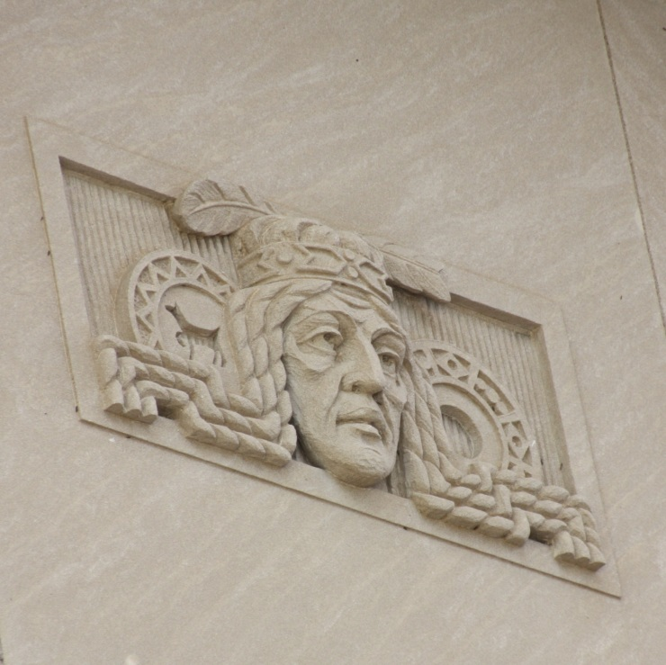 Great ornamentation along the top of the exterior walls.