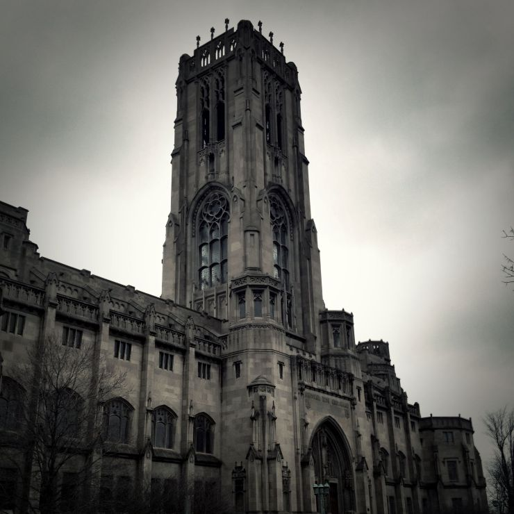 Rainy day. Here's a black and white edit from a rainy day capture of the Scottish Rite Cathedral.