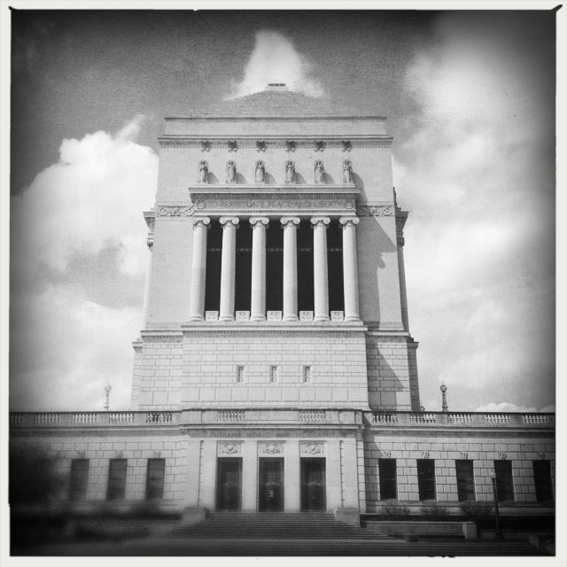 Indiana World War Memorial during a lunchtime walk downtown.