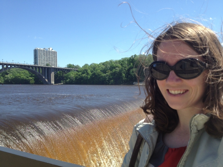 Selfie in front of the Mississippi.