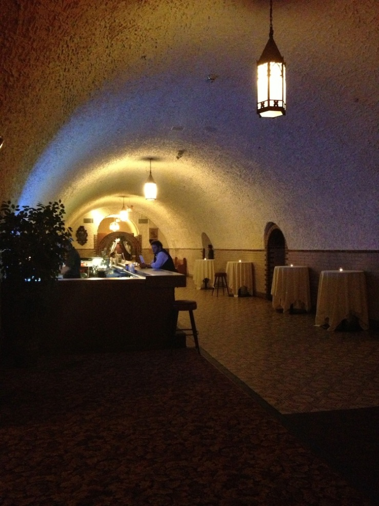 Bar area in the second cave, Wabasha Street Caves