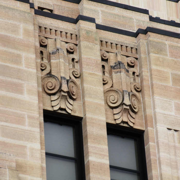 Detail on a downtown St. Paul building