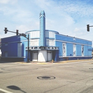 Overall, the Greyhound Bus Terminal, Evansville, Indiana