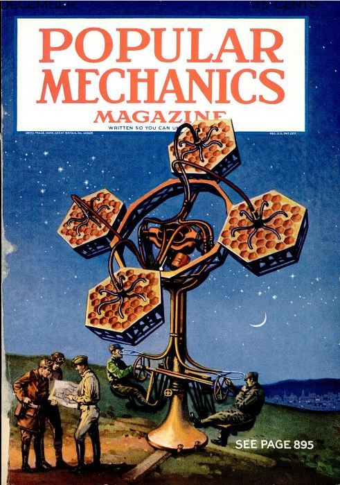 Popular Mechanics, December 1930. The predecessor to radar, this device was designed to locate planes and track their speed.