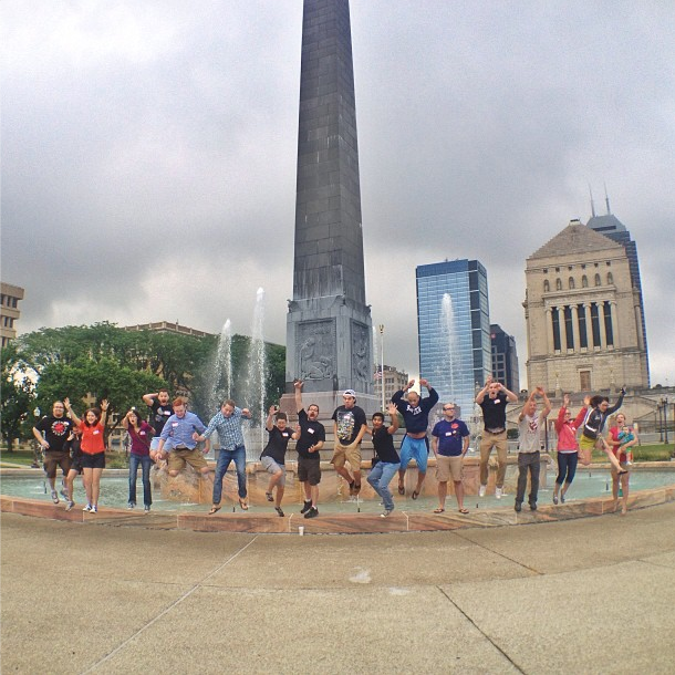 Group Shot from #circlecitysesh07 Photo posted on @igersindy. Yes, that is me, second from the right, crazy jumping in the air!