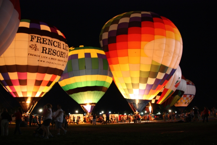 The beautiful balloon glow at the Indiana State Fair.
