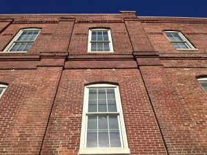 Beautiful historic brick on one of the structures at the NCAA Headquarters campus.