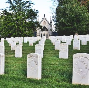 Crown Hill National Cemetery.