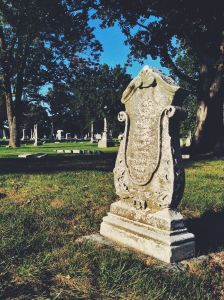 There are many unique gravestones throughout Crown Hill. Here's one of my favorites.