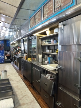 Behind the counter at the Bendix Diner