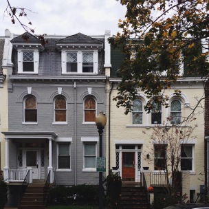 Grey and cream historic homes in Woodley Park
