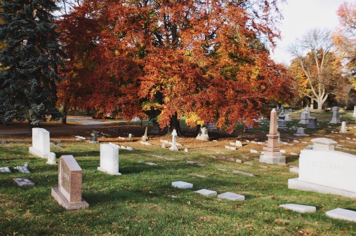 Changing colors at Crown Hill Cemetery