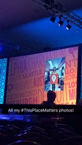 I was excited to see four of my #ThisPlaceMatters shared on the big screen during #TrustLive!