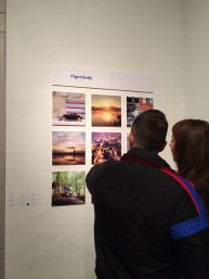 Guests looking at one of the @igersindy grids