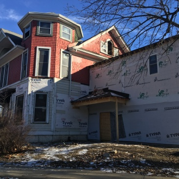 Fall Creek Place house currently being rehabbed