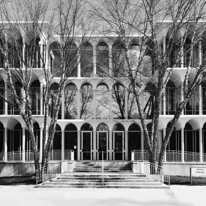 Irwin Library in black and white