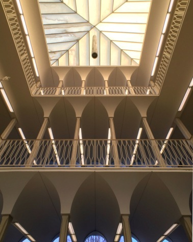 Irwin Library looking up in atrium